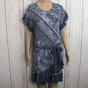 NWT Michael Kors Navy White Fit & Flare Dress